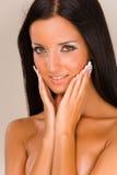 piękny dziewczyna portreta ono uśmiecha się Zdjęcie Royalty Free
