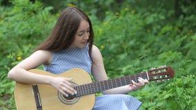 piękny dziewczyny gitary bawić się zbiory