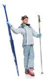 piękny dziewczyny grey sportów kostium obrazy royalty free