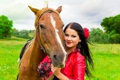 piękny dziewczyny gypsy koń Obrazy Stock