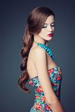 Piękny dziewczyny piękna studia portret Obraz Royalty Free