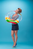 piękny dziewczyny pinup styl Zdjęcie Royalty Free