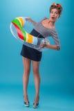 piękny dziewczyny pinup styl Obrazy Royalty Free