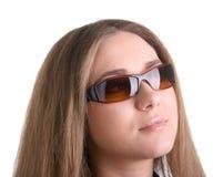 piękny dziewczyny szkieł słońce Zdjęcia Royalty Free