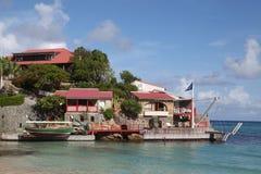 Piękny Eden skały hote przy St Barts, Francuscy Zachodni Indies Fotografia Royalty Free