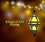 Piękny Elegancki Ramadan Kareem lampion lub Fanous Obrazy Royalty Free