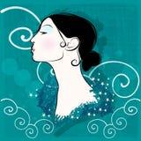 Piękny elegancki zima kobiety portret royalty ilustracja
