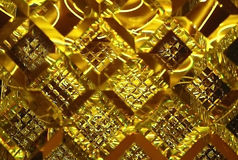 piękny fazujący złocisty lustrzany odbicie fotografia royalty free