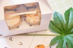 Piękny filiżanka tort obraz royalty free