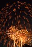 Piękny fireworkds pokaz na dniu niepodległości obraz stock