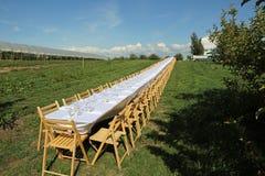 Piękny formalny stół Zdjęcia Royalty Free