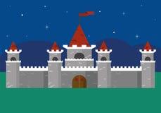 Piękny forteca Przy nocą Fotografia Stock