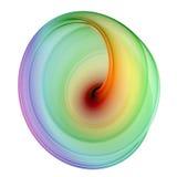 piękny fractal 3 d topione ilustracja wektor