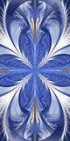 Piękny fractal kwiat Kolekcja - mroźny wzór Ty możesz używać mnie dla zaproszeń, notatnik pokrywy, telefon skrzynka, pocztówki, royalty ilustracja