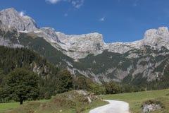 Piękny góra krajobraz obok Werfenweng zdjęcie stock