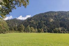 Piękny góra krajobraz obok Werfenweng fotografia royalty free