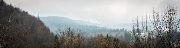 Piękny góra krajobraz od wysokości fotografia royalty free