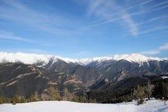 Piękny góra krajobraz - Vallnord, ksiąstewko Andorra, Europa zdjęcia royalty free