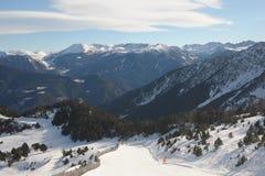 Piękny góra krajobraz - Vallnord, ksiąstewko Andorra, Europa obrazy royalty free