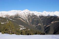 Piękny góra krajobraz - Vallnord, ksiąstewko Andorra, Europa obraz stock