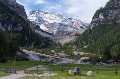 Piękny góra krajobraz w dolomitach, Fanes-Sennes-Prags, Włochy Obraz Royalty Free