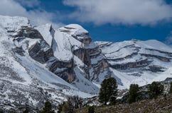 Piękny góra krajobraz w dolomitach, Fanes-Sennes-Prags, Włochy Obrazy Stock