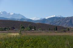 Piękny góra krajobraz w Karakolu, Kirgistan fotografia stock