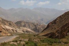Piękny góra krajobraz w Karakolu, Kirgistan zdjęcia royalty free