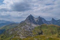 Piękny góra krajobraz w Lechtal Alps, Północny Tyrol, Austria Zdjęcia Royalty Free