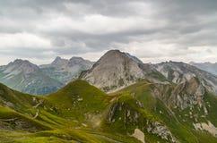 Piękny góra krajobraz w Lechtal Alps, Północny Tyrol, Austria Fotografia Royalty Free