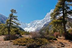 Piękny góra krajobraz w Nepal zdjęcia royalty free