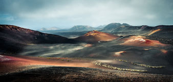 Piękny góra krajobraz z volcanoes obrazy royalty free