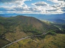 Piękny Górzysty antena krajobraz wzdłuż Gordon Rzecznej drogi, Obrazy Stock
