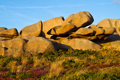 piękny głazów granitu krajobraz Obraz Royalty Free