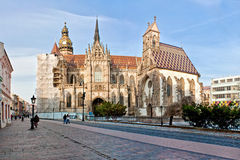 Piękny gothic kościół w Kosice Zdjęcie Royalty Free