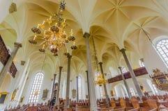 Piękny gothic kościół w Kristianstad, Szwecja Fotografia Royalty Free
