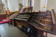 Piękny gothic kościół w Kristianstad, Szwecja Obraz Royalty Free