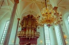 Piękny gothic kościół w Kristianstad, Szwecja Obrazy Royalty Free