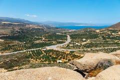 Piękny grecki seascape przy słonecznym dniem, Crete Zdjęcie Royalty Free