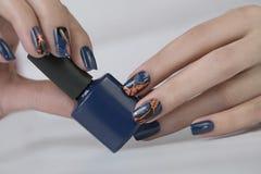 Piękny gwóźdź sztuki manicure zdjęcia stock