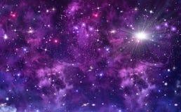 Piękny gwiaździsty niebo Fotografia Royalty Free