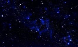 Piękny gwiaździsty niebo Zdjęcia Royalty Free