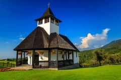 Piękny halny Ortodoksalny monaster, otręby, Transylvania, Rumunia, Europa zdjęcia stock