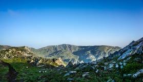 Piękny Halny panorama widok, Rila góra, Bułgaria Obraz Stock