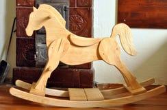 Piękny handmade drewniany koń zdjęcia royalty free