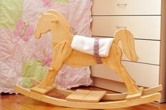 Piękny handmade drewniany koń obraz royalty free
