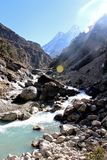 Piękny Himalajski halny strumień Obraz Royalty Free