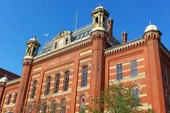 Piękny historyczny budynek projektujący Smithsonian architektem Adolf Cluss w 1869 obraz stock