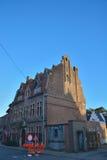 Piękny historyczny dom z wyjątkowym dachem Zdjęcie Royalty Free