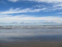 Piękny horyzont przy Mondarmoni plażą, Zachodni Bengalia, India zdjęcie stock